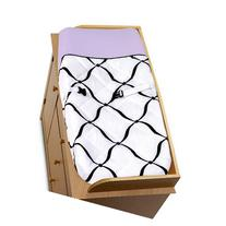 Purple, Black and White Princess Baby Changing Pad Cover by