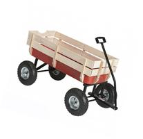 All Purpose Beach Wagon 330lb Capacity Moving Wagon Red And