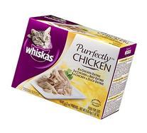 Whiskas Purrfectly Chicken, Chicken & Beef, Chicken and Duck