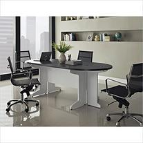 Altra Furniture Pursuit Small Conference Table Bundle, White/Gray