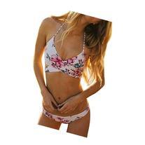 Push-up Padded Bra Bikini,Laimeng Women Floral Sexy Beach