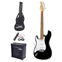 Pyle-Pro PEGKT15B Beginner Electric Guitar Package Black