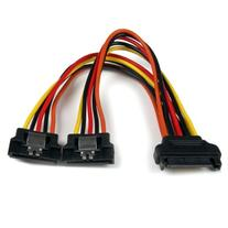 StarTech.com 6in Latching SATA Power Y Splitter Cable