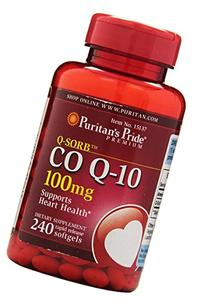 Puritan's Pride Q-SORB Co Q-10 100 mg-240 Rapid Release