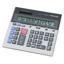 "12-Dgt Desktop Calculator, Dual Power, 7-1/2""x6-7/8""x2-2/3"