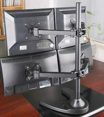 EZM Basic Quad 4 LCD LED Monitor Mount Stand Free Standing
