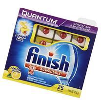 Finish Quantum Dishwasher Detergent Tablets, Lemon Sparkle