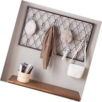 Quatrefoil Iron Wall Plaque with Hooks