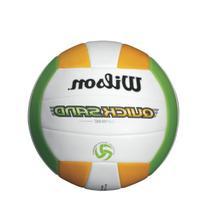 Wilson Quicksand Spike Volleyball, Orange/Green