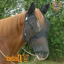 Cashel QuietRide Long Horse Fly Mask with Ears