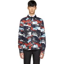 Moncler Gamme Bleu Multicolor Quilted Camo Jacket