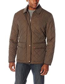 Cole Haan Men's Quilted Jacket with Moleskin and Corduroy