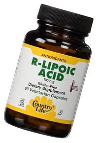 Country Life R-Lipoic Acid, 100 mg, 60-Vegetarian Capsules