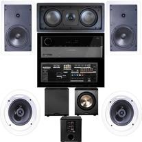 Klipsch R-1650-W In Wall #1 5.1 System-Harman Kardon AVR-