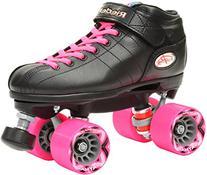 Riedell R3 2016 Black & Pink Quad Roller Derby Speed Skates
