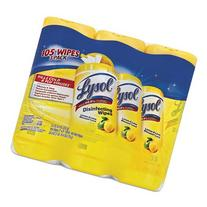 "Lysol Brand RAC82159 Disinfecting Wipes 7"" x 8"" Lemon and"