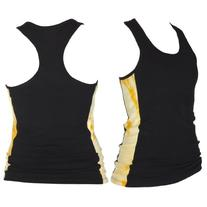 Boxercraft Racer Tank with Shelf Bra Cotton/Spandex Gold Tie