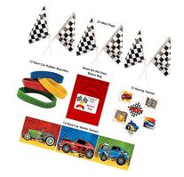 Racing Party Favor Pack 120 pc Kid's Race Car Birthday