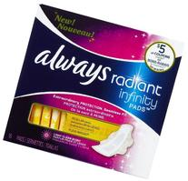 Always Radiant Infinity Regular with Wings Scented Pads 32
