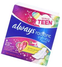 Always Radiant Infinity Teens Totally Pads