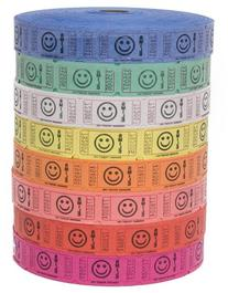 Raffle Tickets - 4 Rolls of 2000 Tickets) 8,000 Total Smile