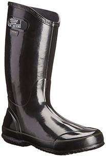 Bogs Women's Rainboot Waterproof Boot,Black,8 M US