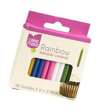 Cake Mate Rainbow Birthday Candles 36 CT
