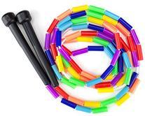 K-Roo Sports Rainbow 7-Feet Jump Rope with Plastic Beaded
