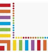 Rainbow Party Napkins, 16ct