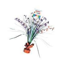 Amscan Rainbow Spray Party Table Centerpiece, Multicolored,