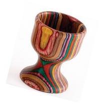 Rainbow Wood Egg Cup Set Of 2