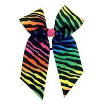 Rainbow Zebra Hair Bow