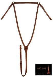 Paris Tack Raised English Horse Breast Plate Chestnut Full