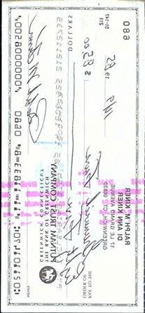 Ralph Kiner Autograph Check JSA PSADNA Signed