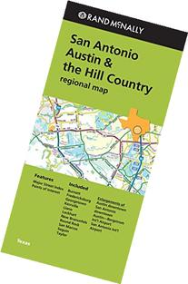 San Antonio Austin & the Hill Country Regional Map Rand