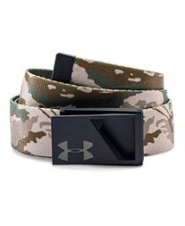 Under Armour Boys' Range Webbed Belt, Coyote Brown/Canvas,