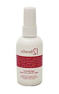 12 Benefits Rapid Blowout Argan Oil Spray 3.4oz
