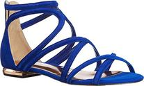 Ted Baker Women's Raria Gladiator Sandal, Blue Suede, 6 M US