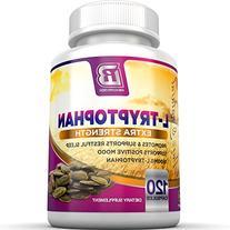 BRI Nutrition L-Tryptophan - Natural Sleep Aid Tryptophan