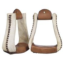 Royal King Rawhide Deep Roper Stirrups - Light/oil