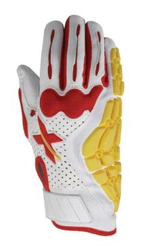 Xprotex Men's Raykr White/Red Batting Glove, Right, Large