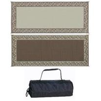 Ming'S Mark Rc7 Brown/Beige 8' X 20' Classical Reversible