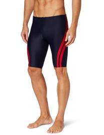 The Finals Men's Reactor Splice Jammer Swimsuit, Black/Green