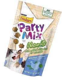 Friskies Party Mix Cat Treats, Naturals, Chicken with