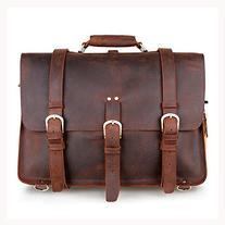 Kattee Real Leather Men's Large Business Travel Messenger