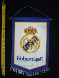 REAL MADRID CF BADGE LOGO FOOTBALL SOCCER PENNANT BANNER