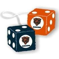 Rearview Mirror Fuzzy Dice - NFL Football - Chicago Bears