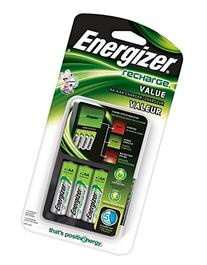 Energizer Recharge Value Charger with 4 AA NiMH Rechargeable