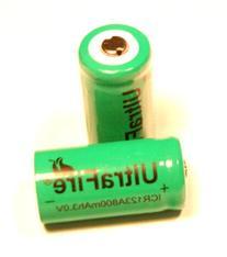 Ultrafire Rechargeable Li-Ion CR123A 16340 3.0V 800mAh