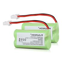 FLOUREON 2-Pack 2.4V 400mAh Ni-MH Rechargeable Replacement